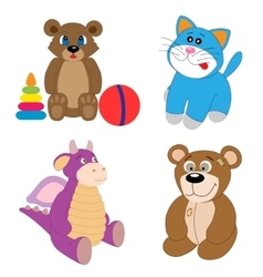 The toy set editable vector image