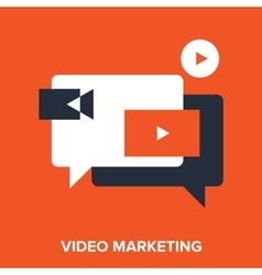 video marketing vector image vector image