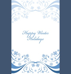 Winter background with snowflakes on whit vector image vector image