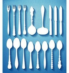 0000 cutlery vector image vector image