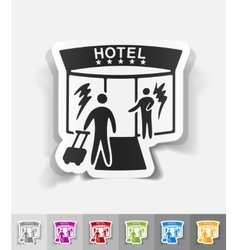 Realistic design element hotel vector
