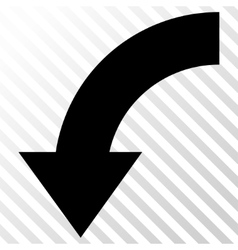 Rotate down icon vector