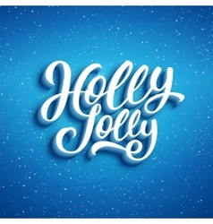 Holly jolly merry christmas vector