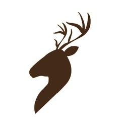 profile deer icon vector image
