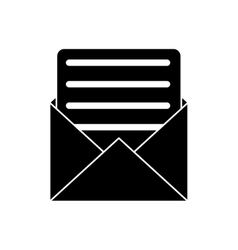 Envelope paper letter email pictogram vector