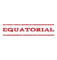 Equatorial watermark stamp vector