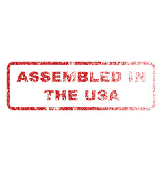 Assembled in the usa rubber stamp vector