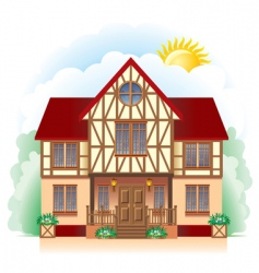 Cottage detailed drawing vector