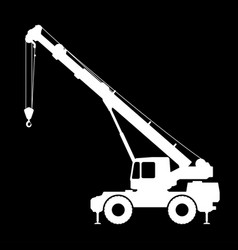 Crane silhouette on a black background vector