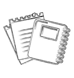 contour rings notebook tool with loose paper vector image