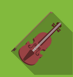 Violin icon in flat style isolated on white vector