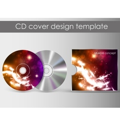 cd cover presentation design template vector image