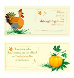 Thanksgiving day cards vector