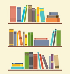 Bookshelf graphic vector