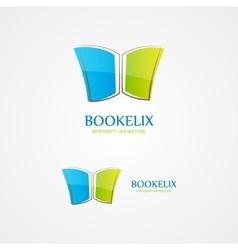 Book design logo vector image