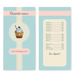 Confectionery menu template with watercolor vector