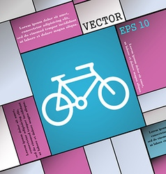 Bike icon sign modern flat style for your design vector