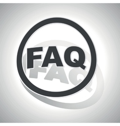 Faq sign sticker curved vector