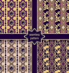 Set of seamless ornamental colorful patterns vector