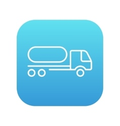 Fuel truck line icon vector