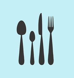Cutlery utensil icon vector