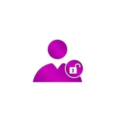User icon lock vector