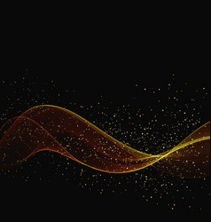 abstract color gold wave design element with vector image vector image