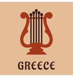 Ancient greek lyre culture symbol vector