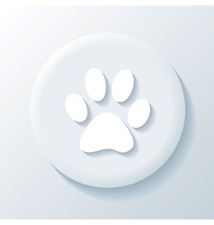 Animal 3d paper icon vector