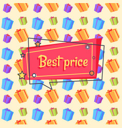 Best price proposal banner seamless pattern vector