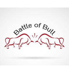 Bull battle vector