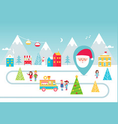 christmas holidays park street food and winter vector image vector image