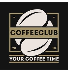 Coffee shop vintage isolated label logo vector image vector image