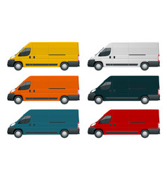 commercial vehicle or logistic car cargo minivan vector image vector image