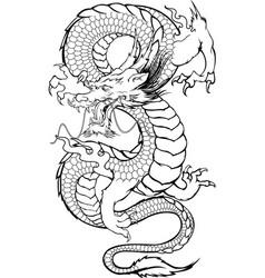 Dragon japanese 1 vector