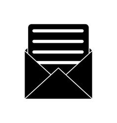 envelope paper letter email pictogram vector image