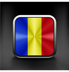 Flag of Romania national travel icon country vector image