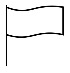 flagged flag report win icon vector image vector image