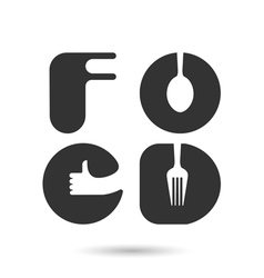 Food Icon Logo Object Icon Logo Abstract Icon Logo vector image