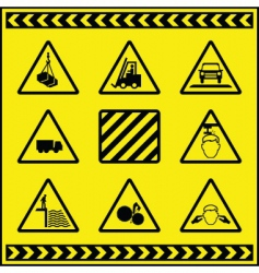 hazards vector image