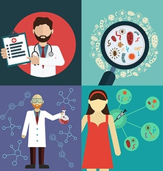 Health care and vaccine research vector image