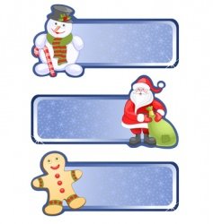 hristmas banners vector image vector image