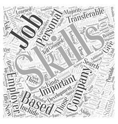 Jh skills emphasis job interview word cloud vector