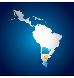 Latin america map vector