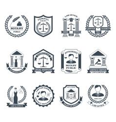 Lawyer black white logo set vector