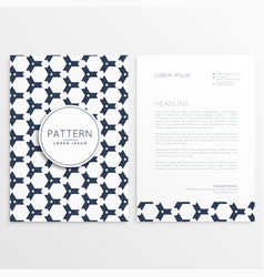 Letterhead design with pattern as backdrop vector