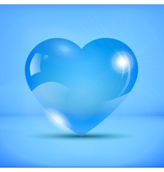 Liquid iced heart vector