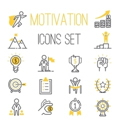 Motivations icons set vector