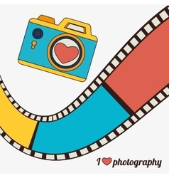 Movie and film entertainment vector image