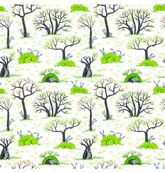 pattern with rabbits vector image vector image